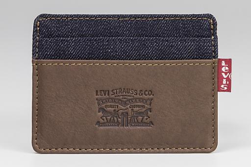 leather&denim card case