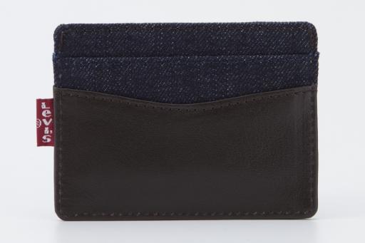 leater&denim card case