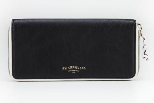 wave long zip wallet