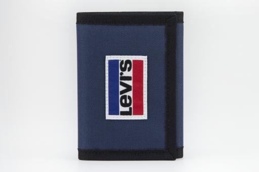 sportswear patch trifold wallet