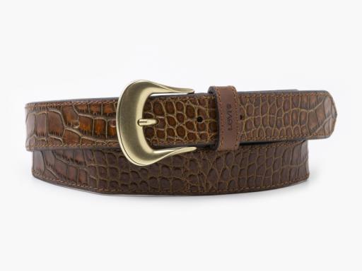 vintage crocodile emboss belt