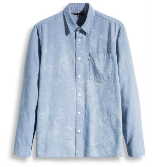 line 8 l/s 1 pocket shirt