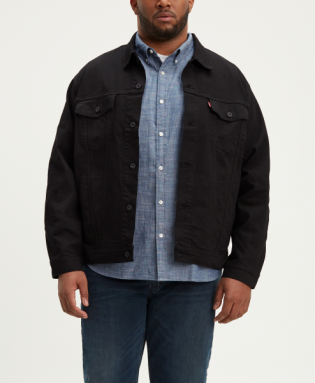 big&tall stretch denim trucker 14oz