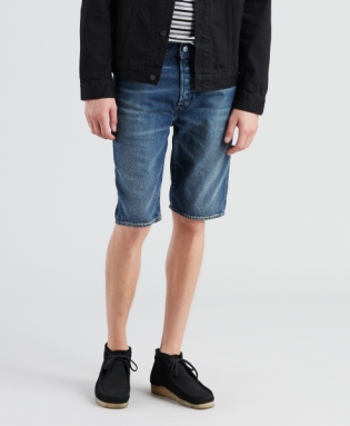 501 hemmed short 11oz