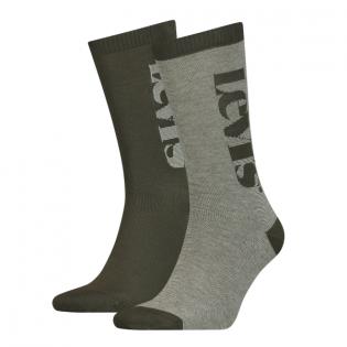 reg cut logo micro stripe 2-pack sock