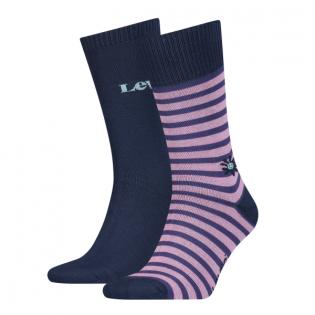 reg cut stripe flower 2-pack sock