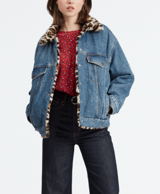 oversize reversible fur trucker