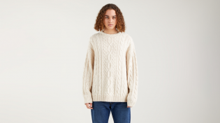 stay loose cable crew sweater