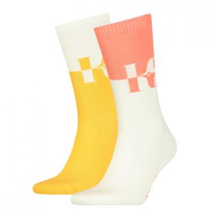 mirrored logo regular cut 2-pack sock