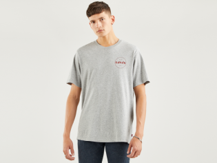 relaxed modern vintage small logo t-shirt