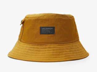 no horse pull logo patch pocketed bucket hat