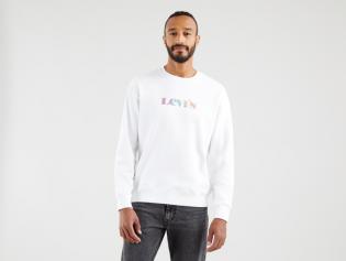 relaxed modern vintage logo crew sweatshirt