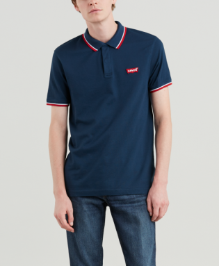 modern chest logo polo