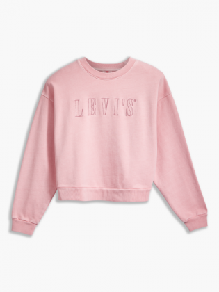 serif logo diana crew sweatshirt